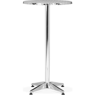 Cleo Outdoor Round Bar Table - Gray