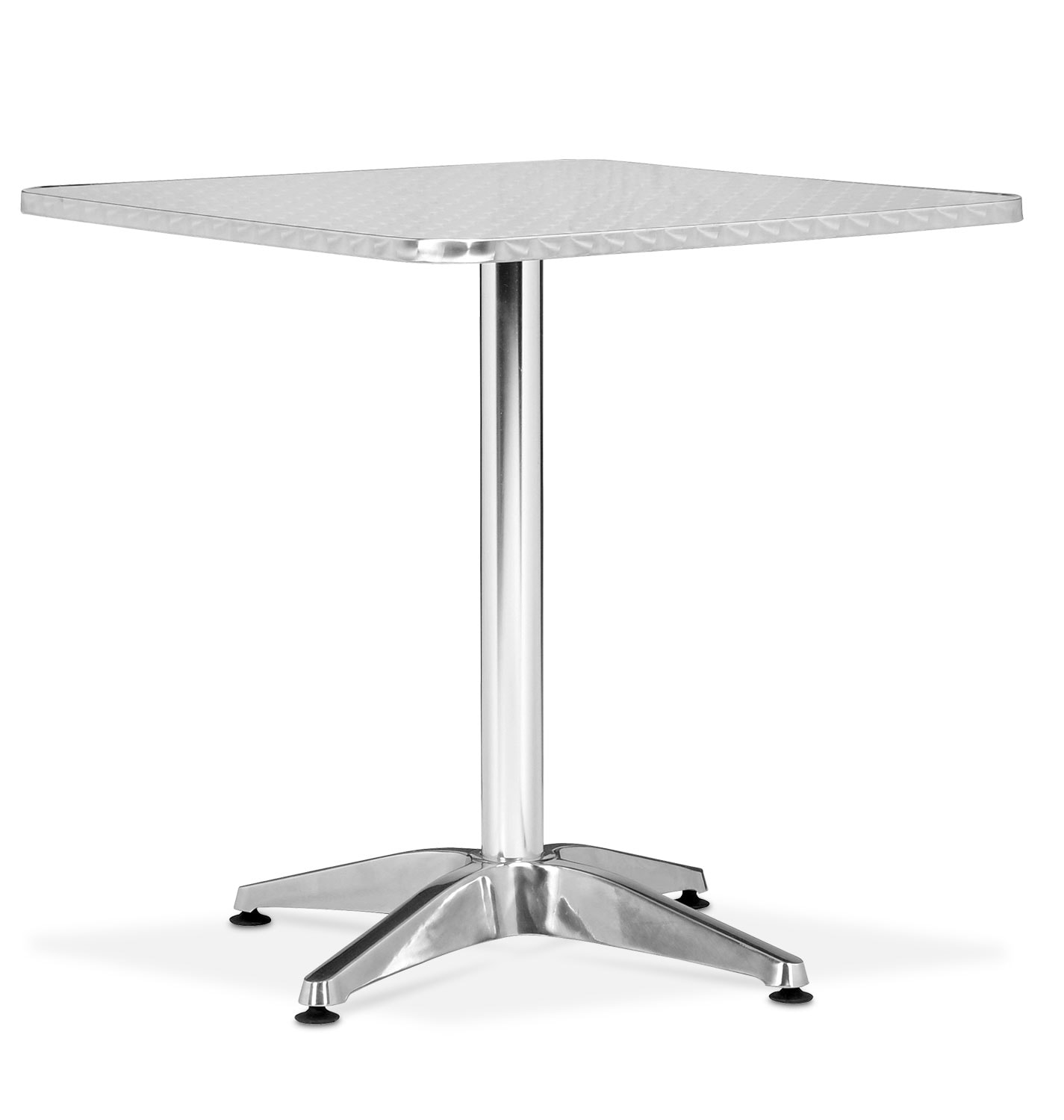Outdoor Furniture - Cleo Outdoor Square Table - Gray