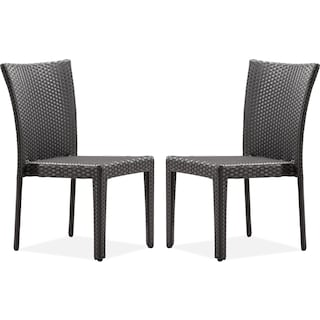 Panama 2-Piece Outdoor Side Chairs - Espresso
