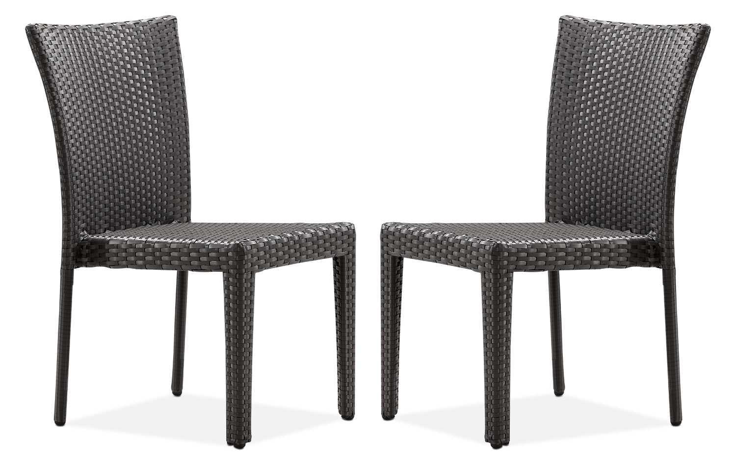 Outdoor Furniture   Panama 2 Piece Outdoor Side Chairs   Espresso