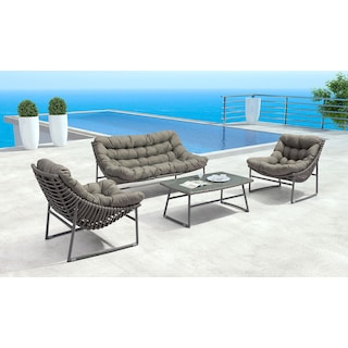 Alexa Outdoor Sofa - Gray