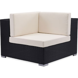 Wiley Outdoor Corner Chair - Espresso