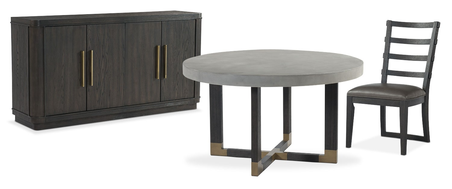 The Malibu Round Dining Collection - Umber