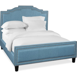 Tina Queen Upholstered Bed - Teal