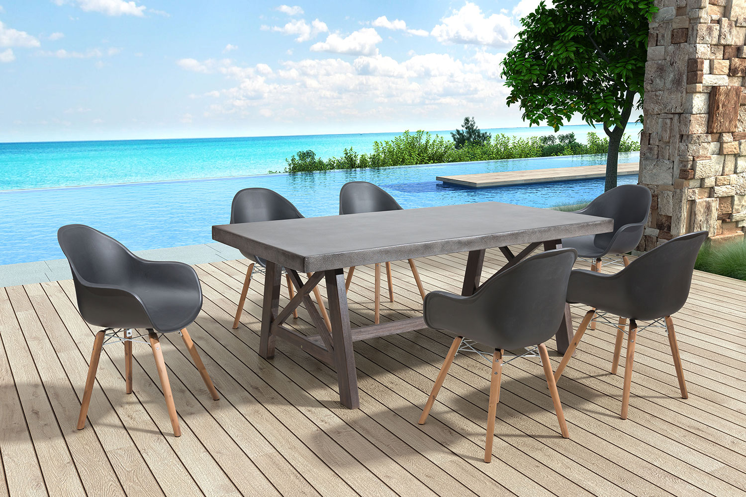 Troon Set Of 4 Outdoor Dining Chairs Black Value City Furniture And Mattresses