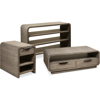 The Malibu Occasional Table Collection - Gray