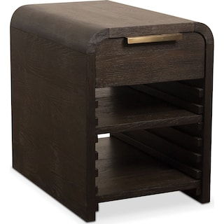 Malibu Chairside Table - Umber