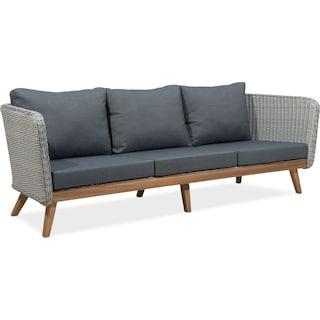 Peyton Outdoor Sofa - Natural and Gray