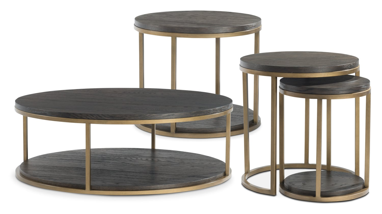 The Malibu Metal Occasional Collection - Umber