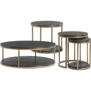 The Malibu Metal Occasional Table Collection