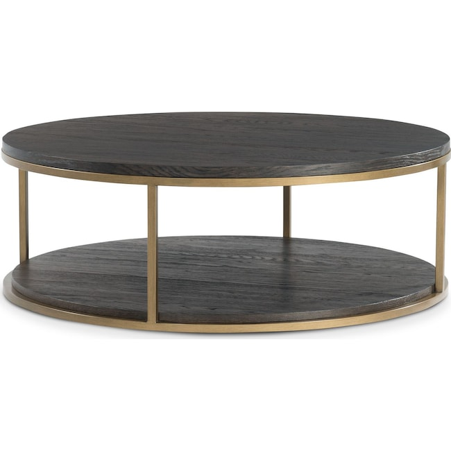 Accent and Occasional Furniture - Malibu Round Metal Coffee Table - Umber
