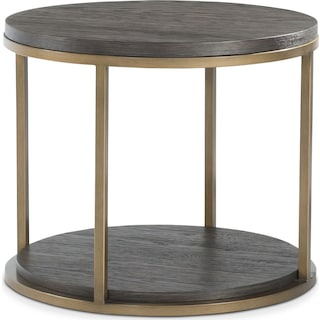 Malibu Metal End Table - Umber