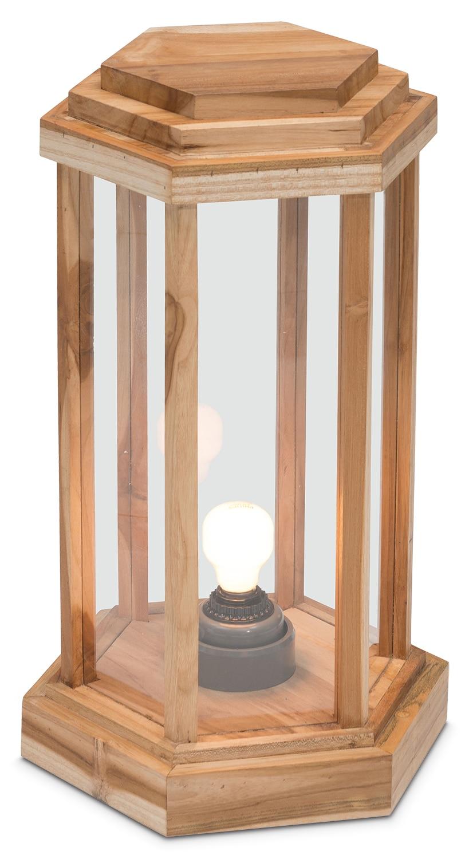 """Outdoor Furniture - Solene Outdoor 22"""" Floor Lamp - Natural"""