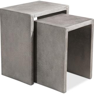 Zelda Outdoor Set of 2 Nesting Side Tables - Cement