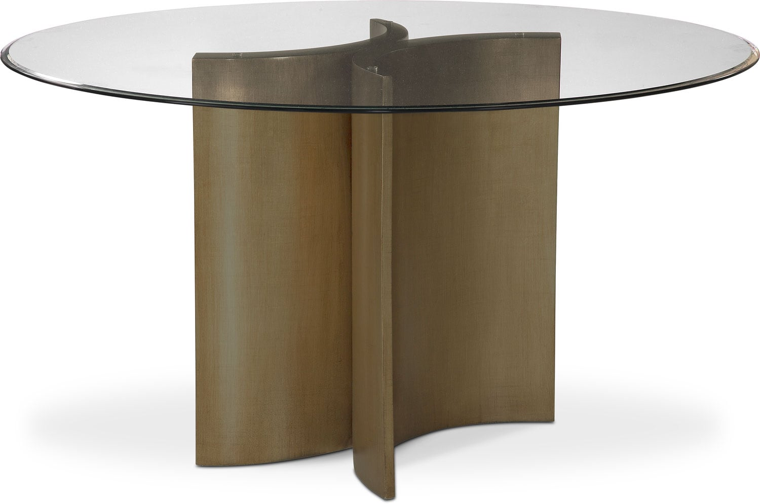 Symmetry Round Dining Table   Bronze