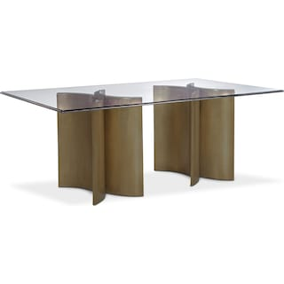 Symmetry Rectangular Dining Table - Bronze