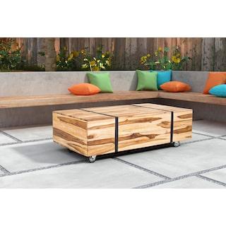 Adora Outdoor Cocktail Table - Brown