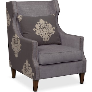 Dynasty Accent Chair - Gray