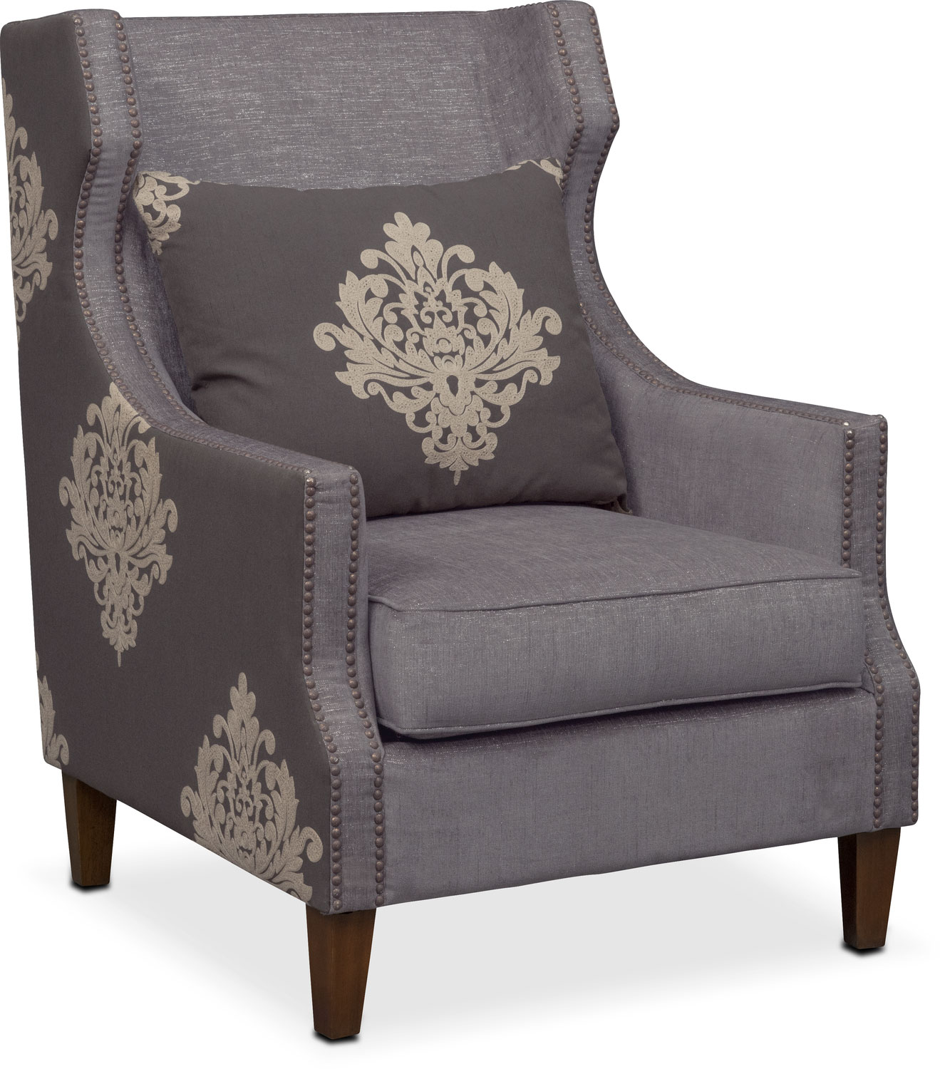 dynasty accent chair gray