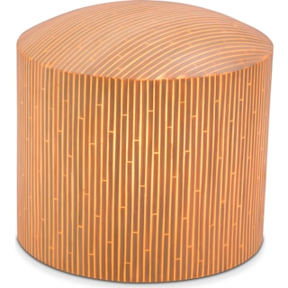 Prescott Outdoor Illuminated Stool - Bamboo