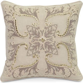 Floral Decorative Pillow - Ivory