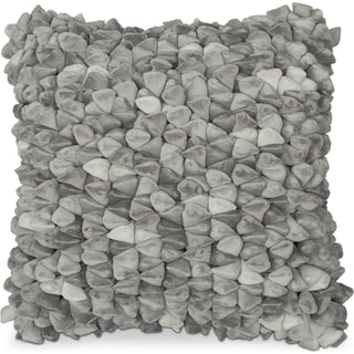 Plush Decorative Pillow- Stone Gray