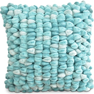 Plush Decorative Pillow - Teal