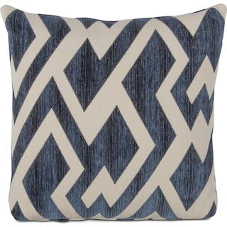 Zig Zag Decorative Pillow - Blue