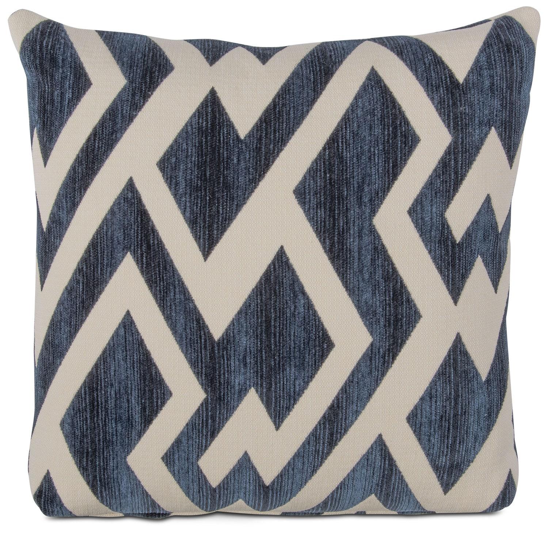 zig zag decorative pillow blue