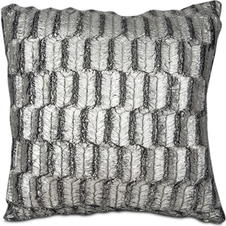 Silver Leaf Decorative Pillow