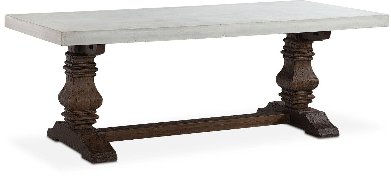 churchill concrete top dining table tobacco