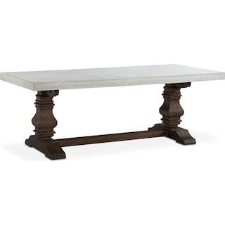 Churchill Concrete Top Dining Table - Tobacco