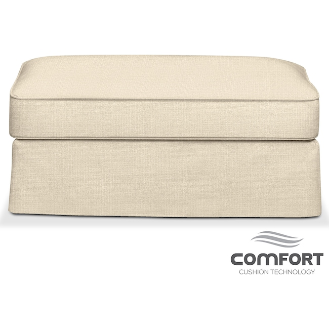 Living Room Furniture - Allison Comfort Ottoman - Anders Cloud