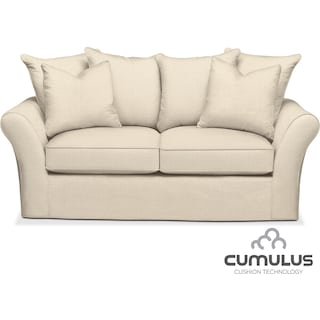 Allison Cumulus Apartment Sofa - Cream