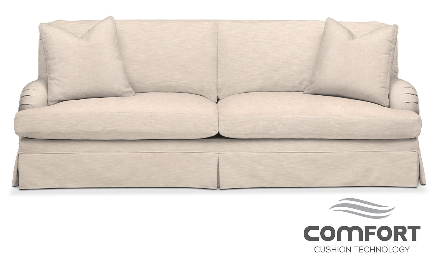 Living Room Furniture - Campbell Comfort Sofa - Dudley Buff