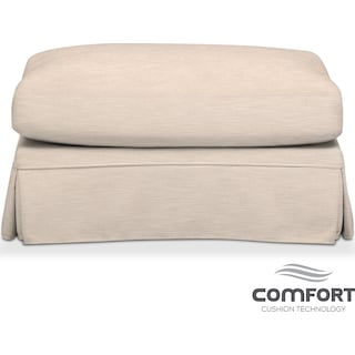 Campbell Comfort Ottoman - Dudley Buff