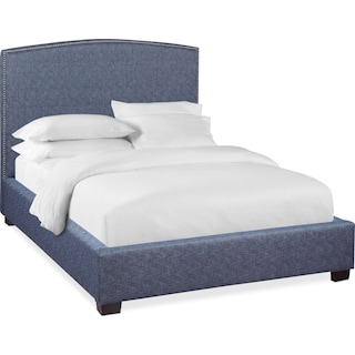 Sonia Queen Upholstered Bed - Indigo