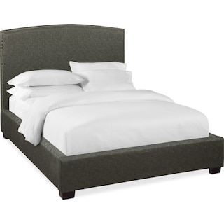 Sonia Queen Upholstered Bed - Onyx
