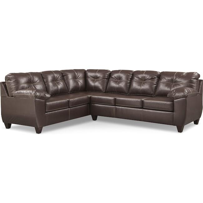ricardo 2 piece memory foam sleeper sectional with left With memory foam sectional sofa value city