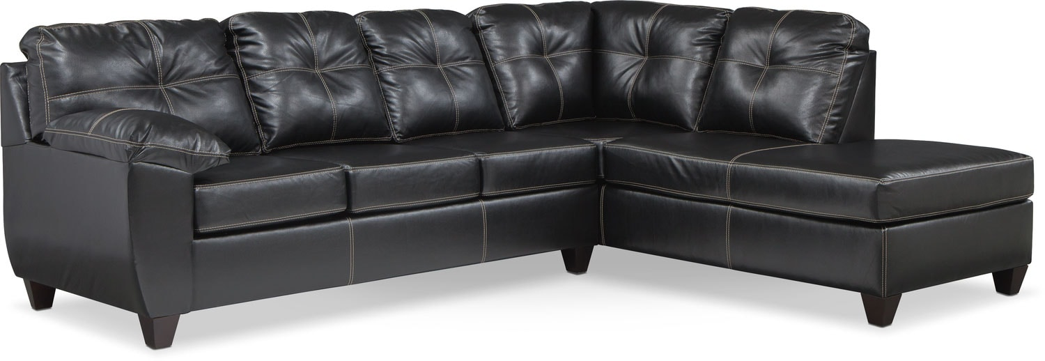 Exceptionnel Ricardo 2 Piece Memory Foam Sleeper Sectional With Right Facing Chaise    Onyx