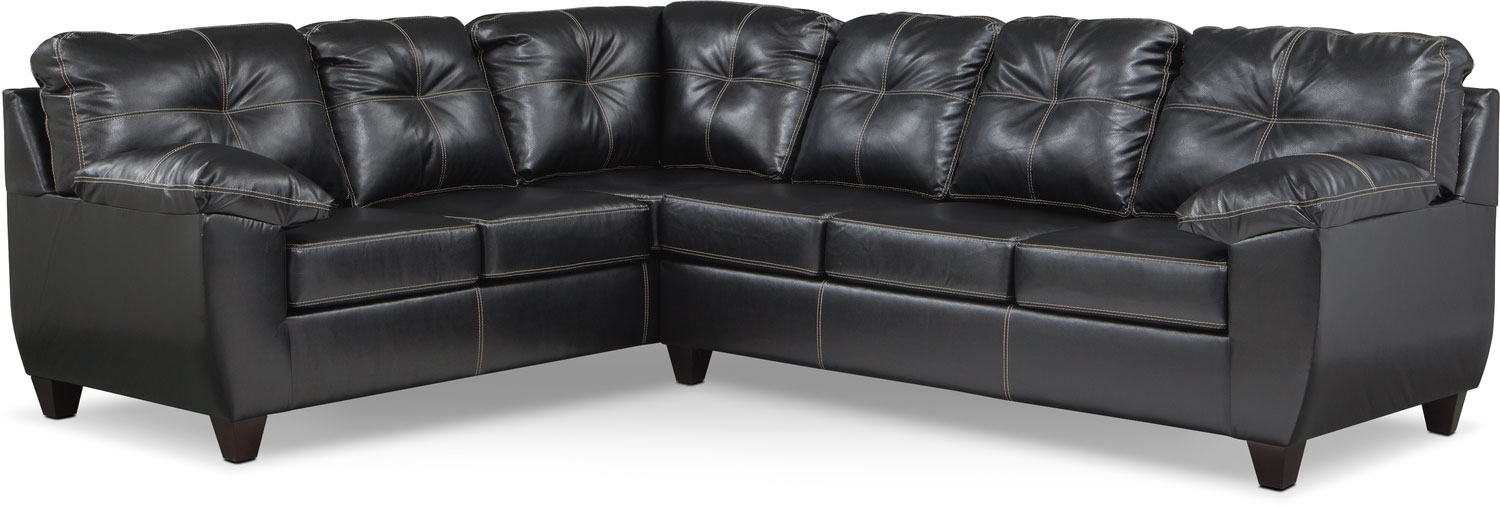 living room furniture ricardo 2piece memory foam sleeper sectional with leftfacing