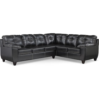 Ricardo 2-Piece Memory Foam Sleeper Sectional with Right-Facing Sofa - Onyx