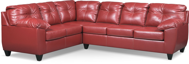 Living Room Furniture   Ricardo 2 Piece Memory Foam Sectional With  Left Facing Sofa