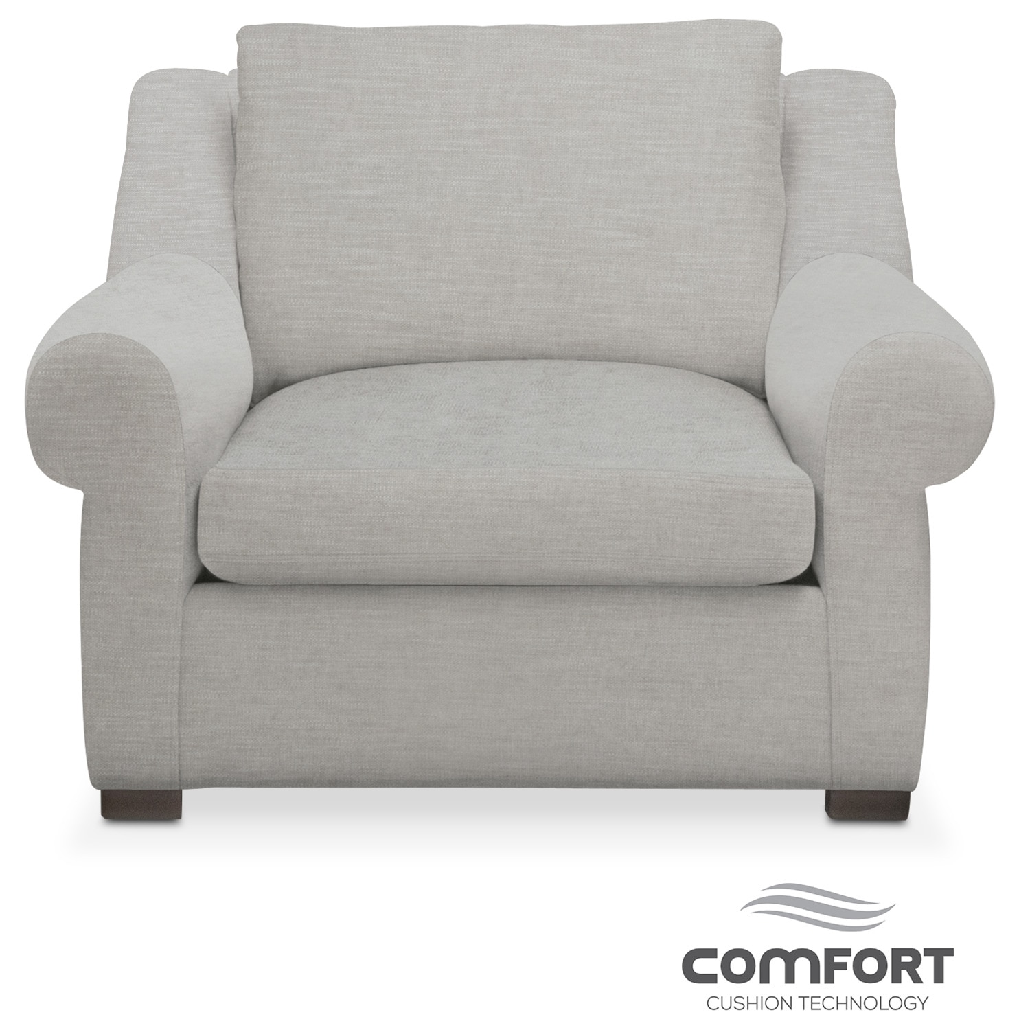 Living Room Furniture - Asher Comfort Chair - Dudley Gray