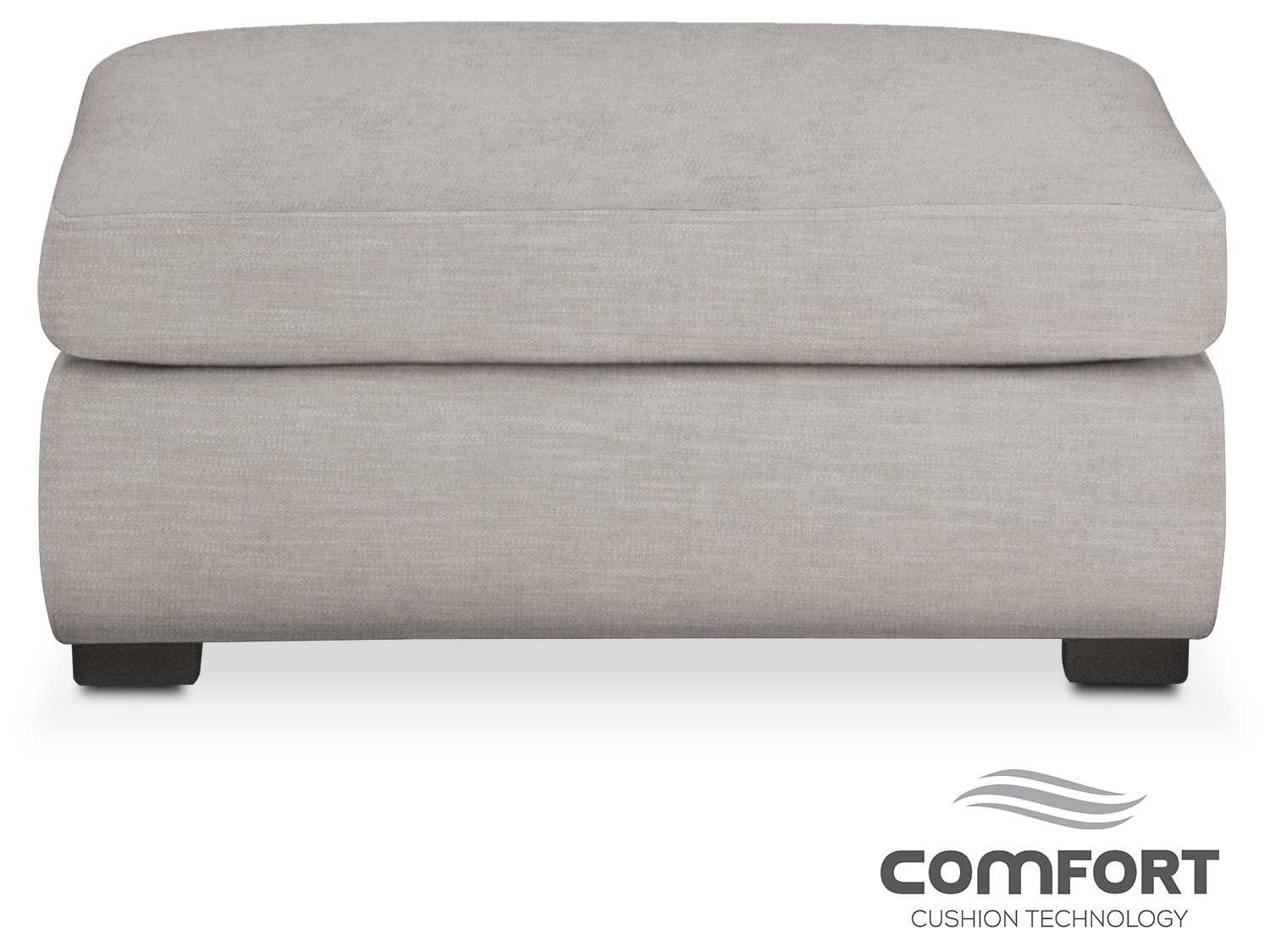 Living Room Furniture - Asher Comfort Ottoman - Dudley Gray