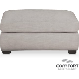 Asher Comfort Ottoman - Dudley Gray