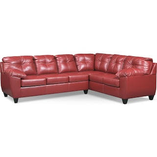 Ricardo 2-Piece Memory Foam Sleeper Sectional with Right-Facing Sofa - Cardinal