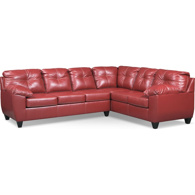 Living Room Furniture - Ricardo 2-Piece Sleeper Sectional with Sofa
