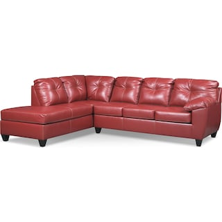 Ricardo 2-Piece Memory Foam Sleeper Sectional with Left-Facing Chaise - Cardinal