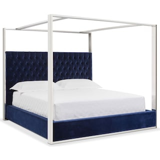 presley king canopy bed blue